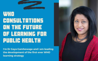WHO consultations on the future of learning for public health